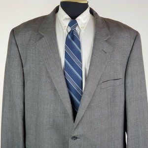 Jos A Bank 46 L 2 Button Wool Blazer Men's Gray